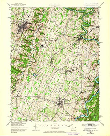 Amazon Com Yellowmaps Martinsburg Wv Topo Map 1 62500 Scale 15 X