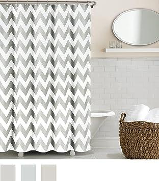 Grey And White Chevron Shower Curtain. Echelon Home Chevron Shower Curtain  Feather Grey Amazon com