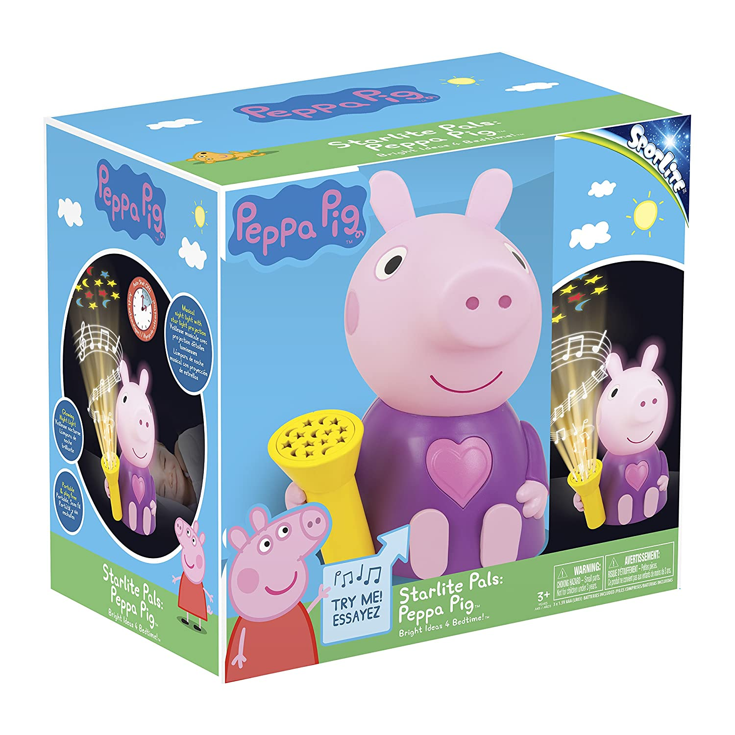 Amazon.com: Peppa Pig Starlite Pal - Luz musical, Peppa Pig ...