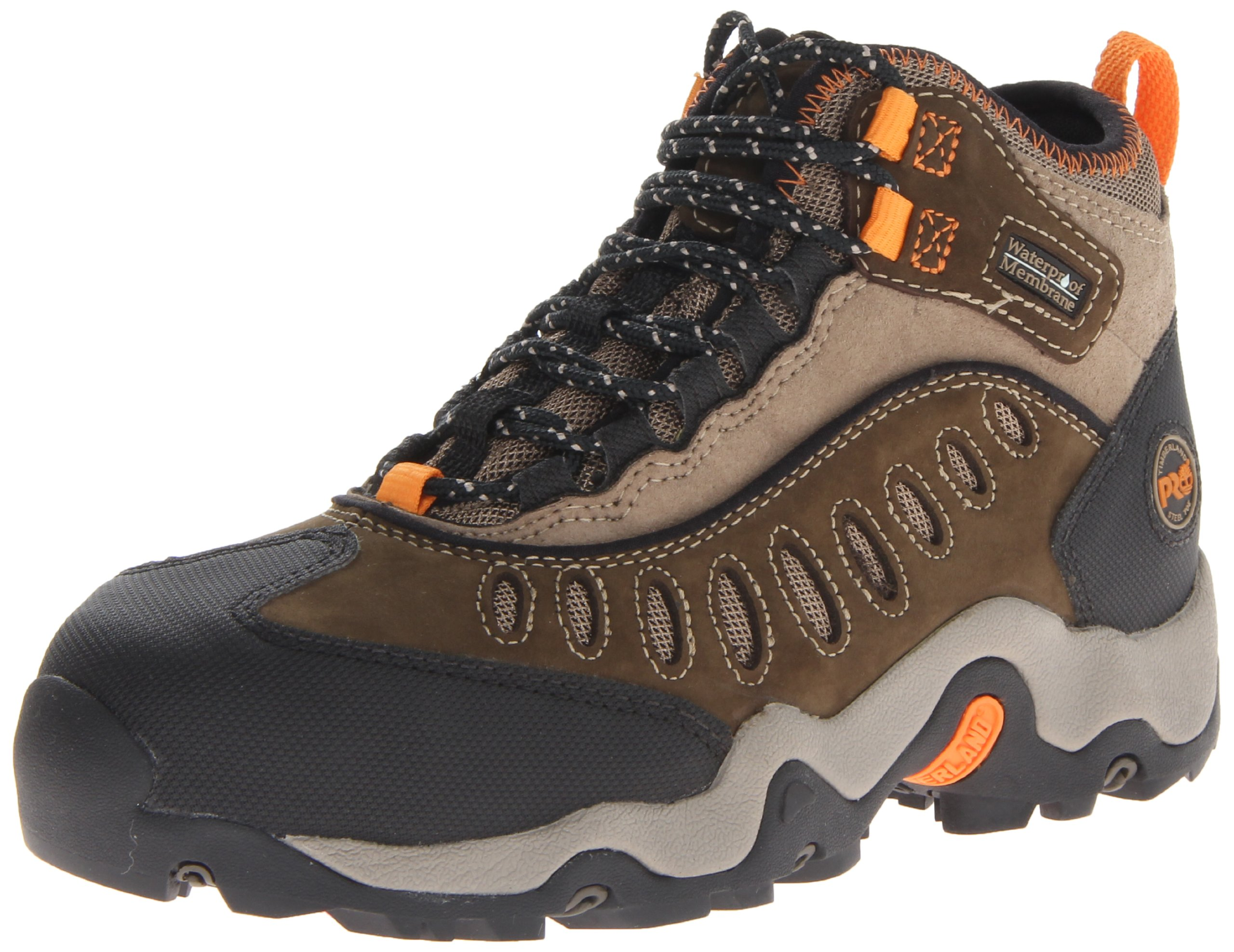 Timberland PRO Men's Mudslinger Mid Waterproof Lace-Up Fashion Sneaker,Brown Nubuck,12 W US by Timberland PRO