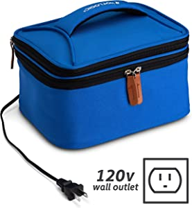 HotLogic 16801169-BL Food Warming Tote Lunch Bag Plus 120V, Blue