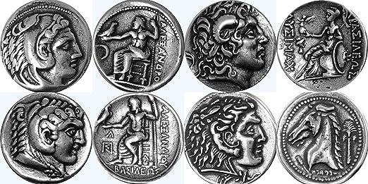 Griechische Götter Und Göttinnen Collection 4s Münzen Von Alexander