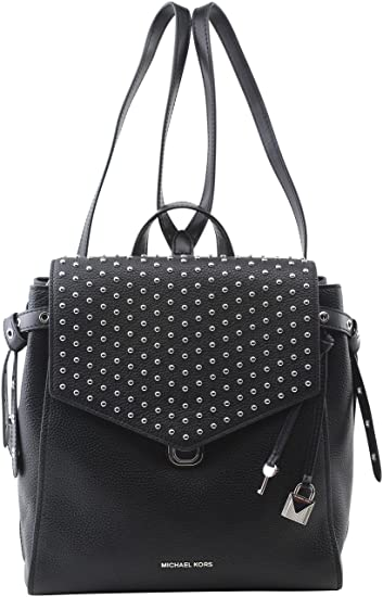 0dd62ae1ef0f Amazon.com: MICHAEL Michael Kors Women's Bristol Leather Studded Medium  Backpack in Black: Victoria Nicole's Closet