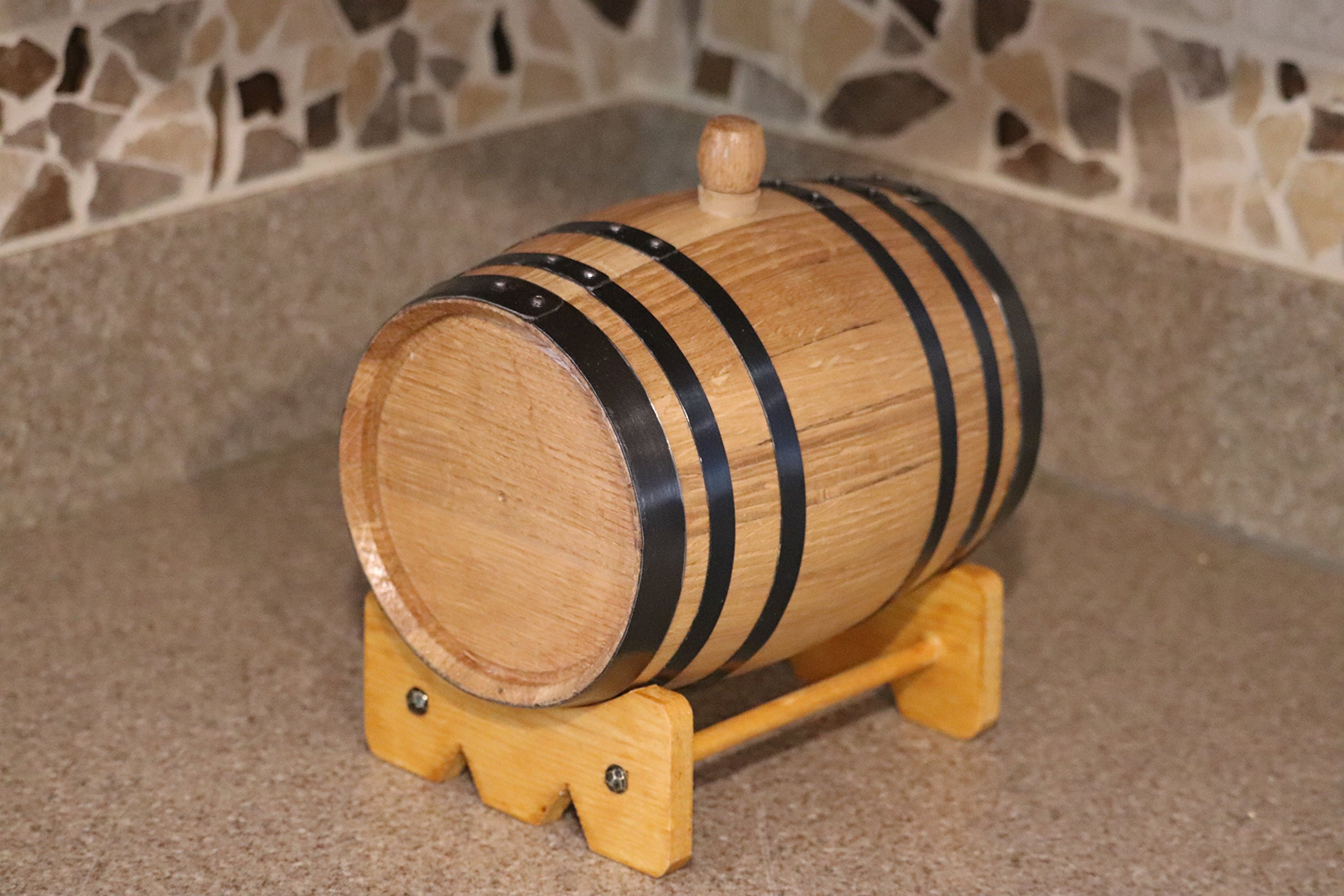 Deep South Barrels Personalized Oak Barrel | American White Oak | Custom Laser Engraved | Dispenser for Aging Whiskey, Rum, Tequila, Bourbon, Vinegar and Wine by Deep South Barrels (Image #7)