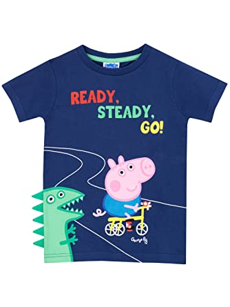 80ee5a09c Peppa Pig Boys George Pig T-Shirt Ages 18 Months to 8 Years: Amazon.co.uk:  Clothing
