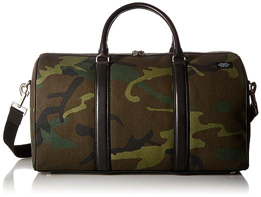 Amazon.com  Jack Spade Men s Industrial Canvas Camo Duffle  Clothing ca3c189f4e84d