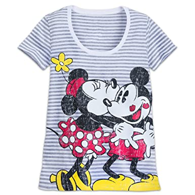 91ec437ab Disney Mickey and Minnie Mouse Striped T-Shirt for Women Size Ladies XS  Multi