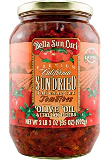 35 oz Bella Sun Luci Sun Dried Tomatoes Julienne Cut in Olive Oil