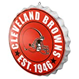 Cleveland Browns NFL Bottle Cap Wall Sign
