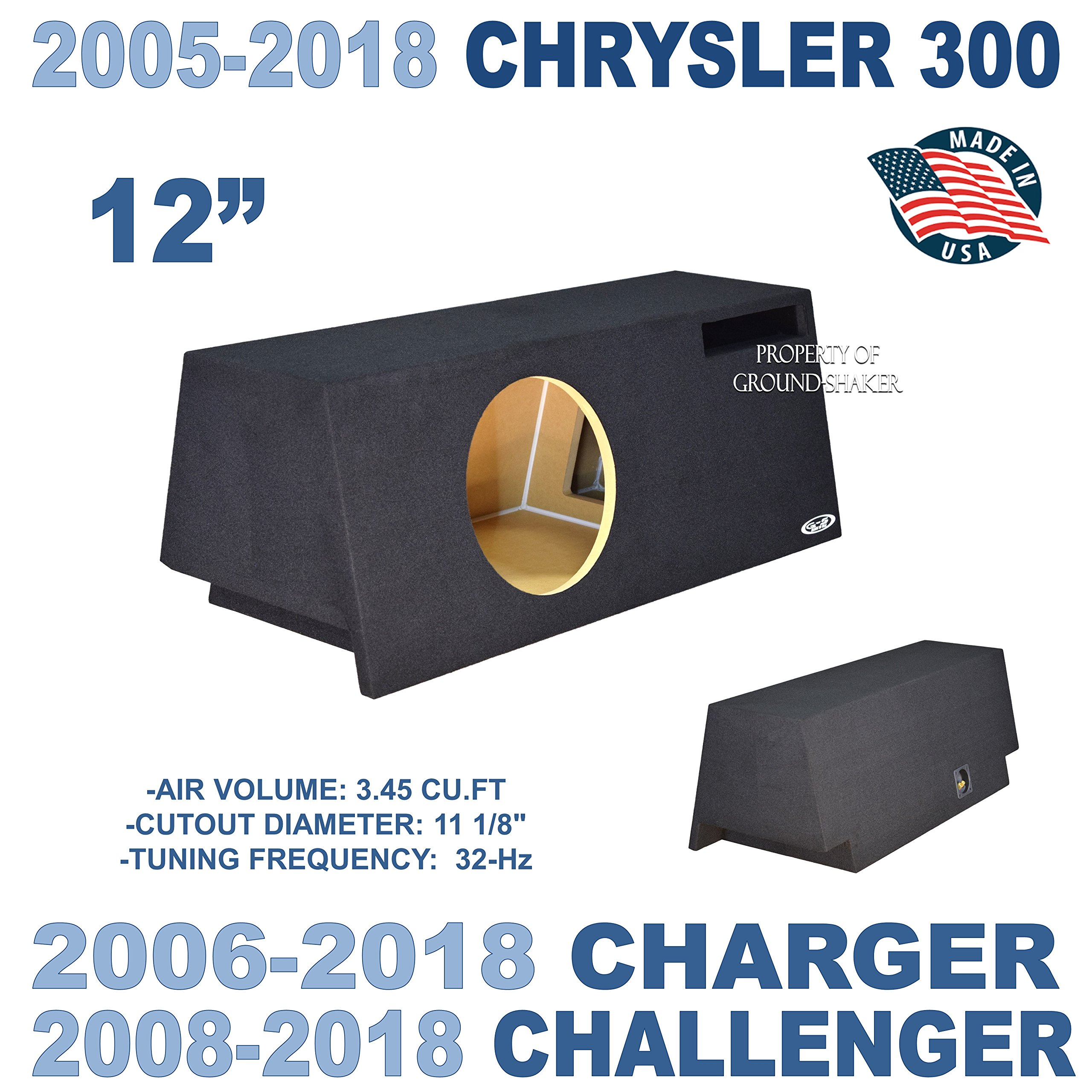 Fits Dodge Charger 06-17 Dodge Challenger 08-17 12'' Single Ported Sub Box