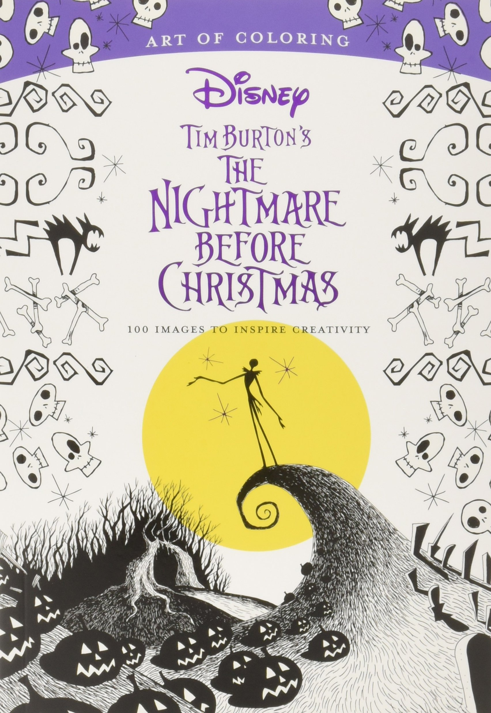 Amazon Com Art Of Coloring Tim Burton S The Nightmare Before