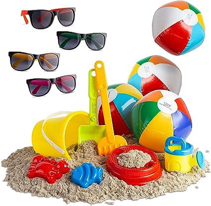 Walla Juguetes De Playa Para Niños Mayores Juguetes De Playa Para Niños Y Niñas Juguete De Playa Con Bolas De Playa Anteojos De Sol Mx Juegos Y Juguetes