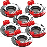 """Intex Red River Run 1 Fire Edition Sport Lounge, Inflatable Water Float, 53"""" Diameter 6 Pack"""