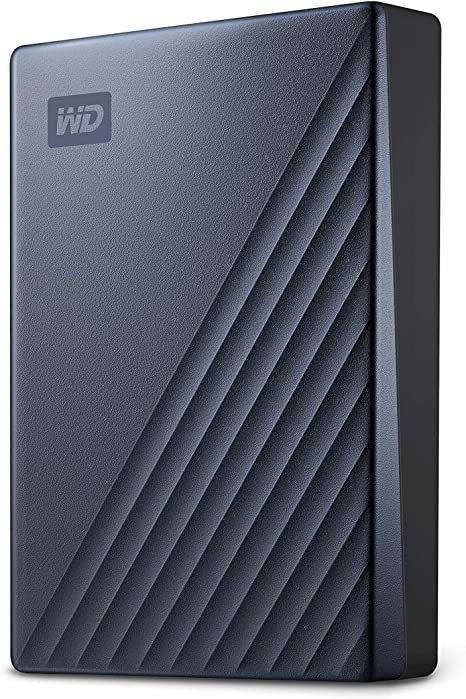 WD My Passport Ultra 4TB External USB 3.0  usb-c grey hdd WDBFTM0040BSL-0d