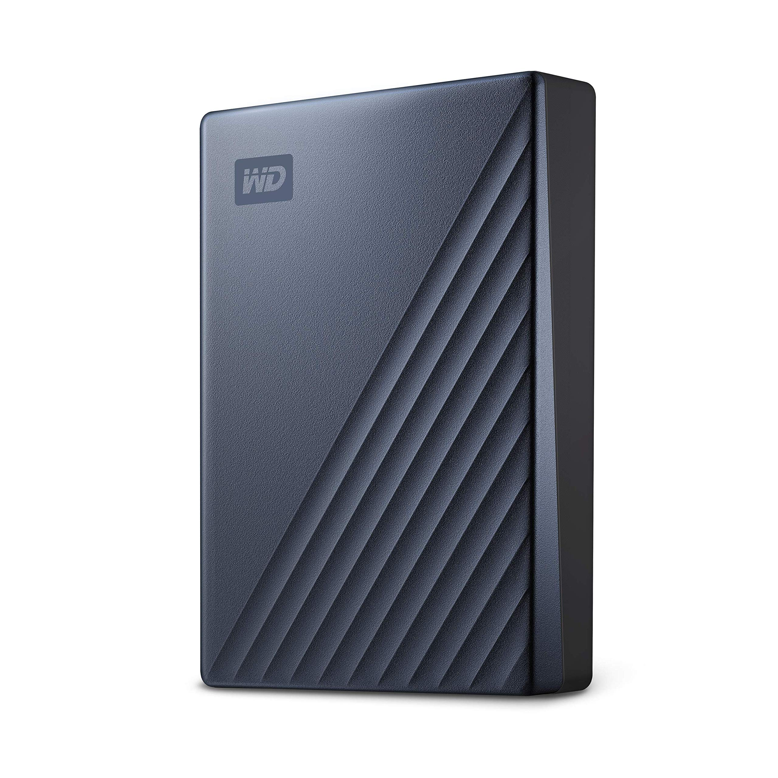 Western Digital 4TB My Passport Ultra Blue Portable External Hard Drive, USB-C - WDBFTM0040BBL-WESN