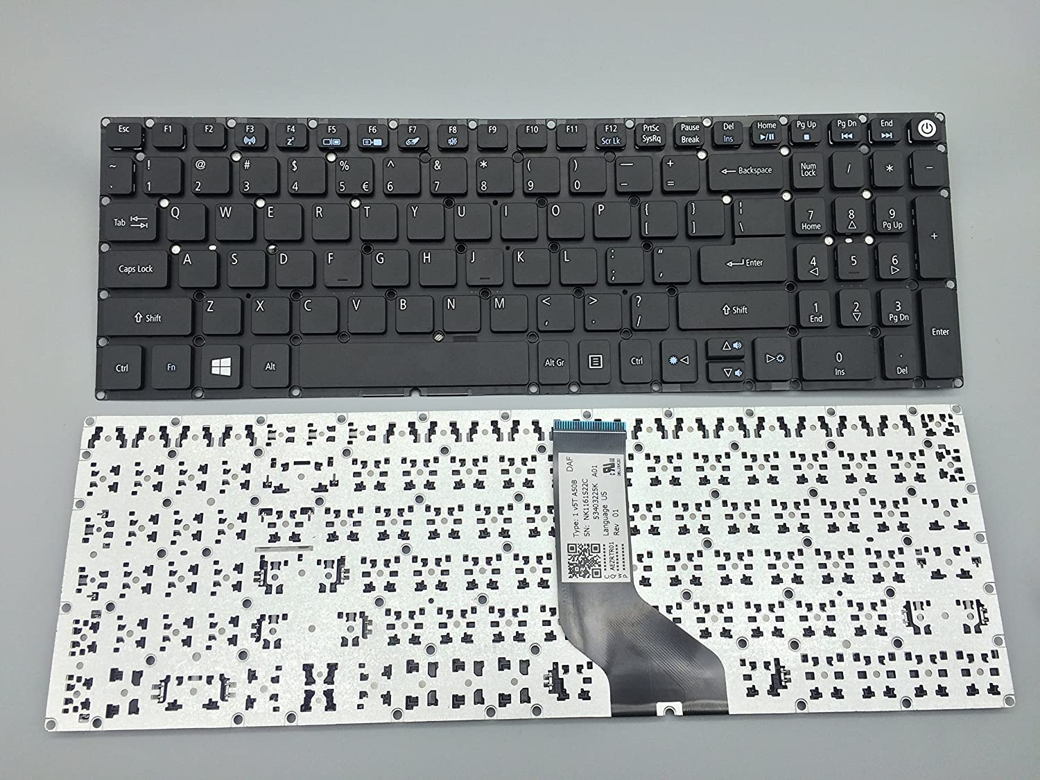 keyboard go go go Laptop Keyboard Replacement for Acer Aspire E5-573 E5-573G E5-573T E5-573TG Series Laptop No Frame No Backligh E5-573