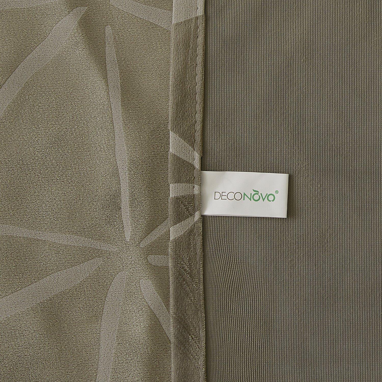 Deconovo Vorhang Muster Vorhange Wohnzimmer Gardinen Schlafimmer