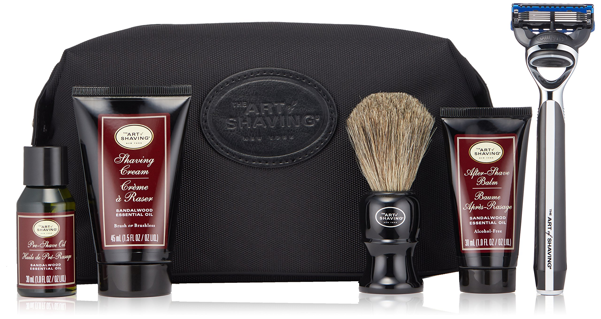 The Art of Shaving 5 Piece Travel Kit with Morris Park Razor, Sandalwood by The Art of Shaving