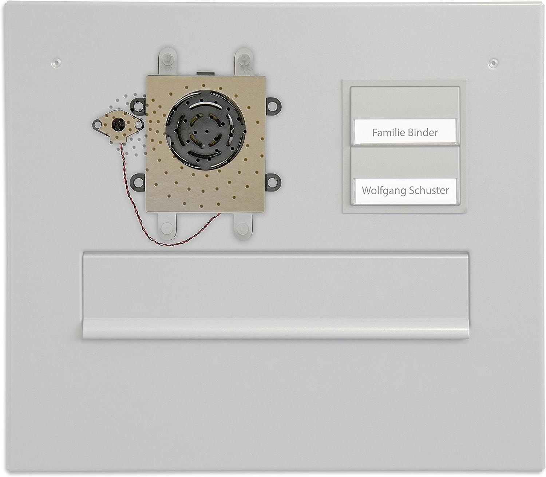 Klingel f/ür den Briefkasten Haustelefon und Handy als Gegensprechanlage DoorLine TM4 Schwarz T/ürsprechanlage Anschluss a//b 2-Draht T/ür/öffner anschlie/ßbar