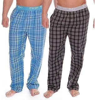 Pack 2 caballeros de Cuadros Pantalones de andar por casa Pantalones Pijamas Fondos Polialgodón