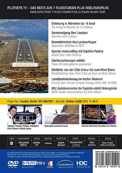 PilotsEYE tv | Munich - LA PALMA |:| DVD |:| Cockpit flight