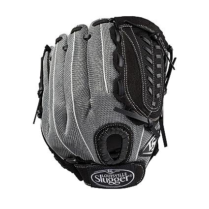 /Rechte Hand /Überwurf schwarz//Gunmetal//wei/ß Louisville Slugger 2019/Genesis Heimspiele Baseball Handschuh/ 29,2/cm