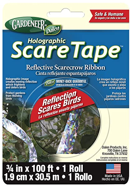 Dalen HST100 Gardeneer Holographic Scare Tape Reflective Scarecrow Ribbon 3/4
