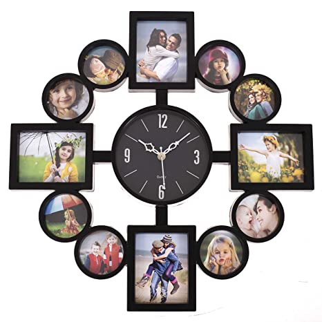 Buy Smera Plastic Large Wall Clock With Photo Frame16x16 Inches