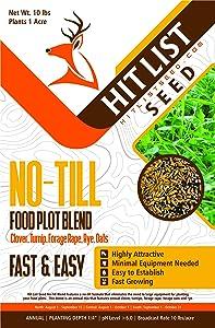 Hit List - No-Till Deer Food Plot Blend-Clover, Turnip, Radish, Rye, Oats (1/2 Acre (5 lbs))