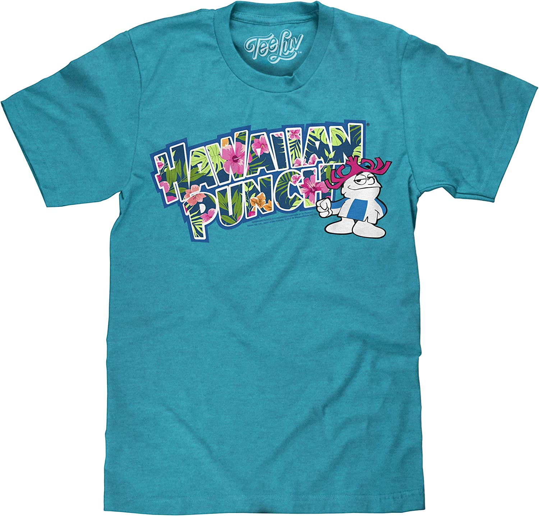 Tee Luv Hawaiian Punch T-Shirt - Hawaiian Punch Floral Logo Shirt