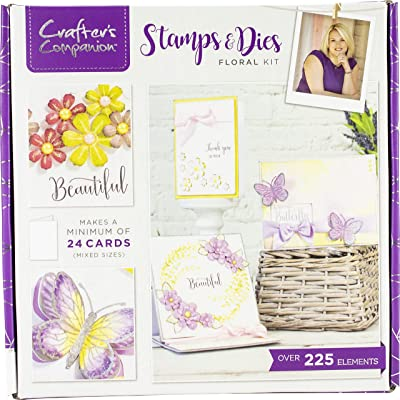 CC INTERNATIONAL LLC CC-KIT-12-STDF Craft Box KIT Stamp/DIE, us:one Size, Stamp & Dies Floral: Arts, Crafts & Sewing