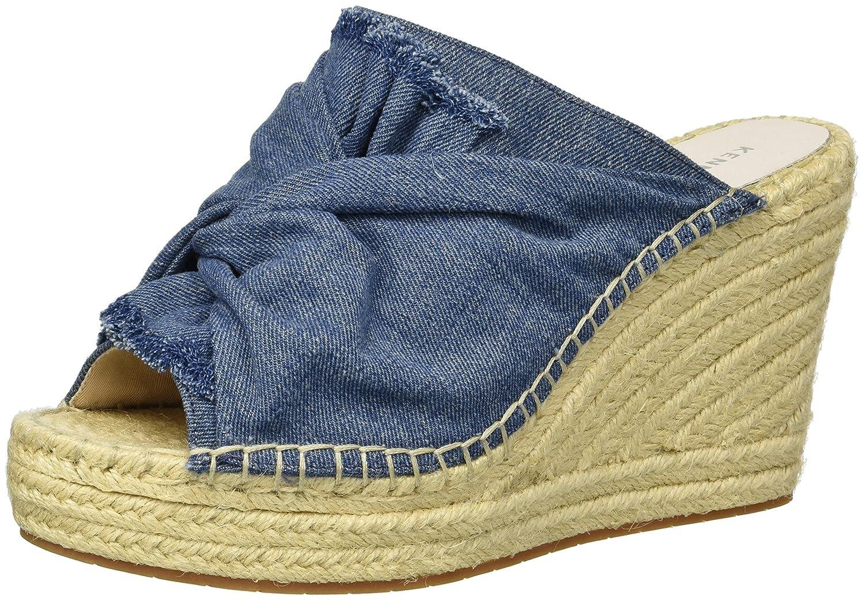 bluee Kenneth Cole New York Womens Odelle 2 Slip on Wedge Espadrille Sandal Espadrille Wedge Sandal