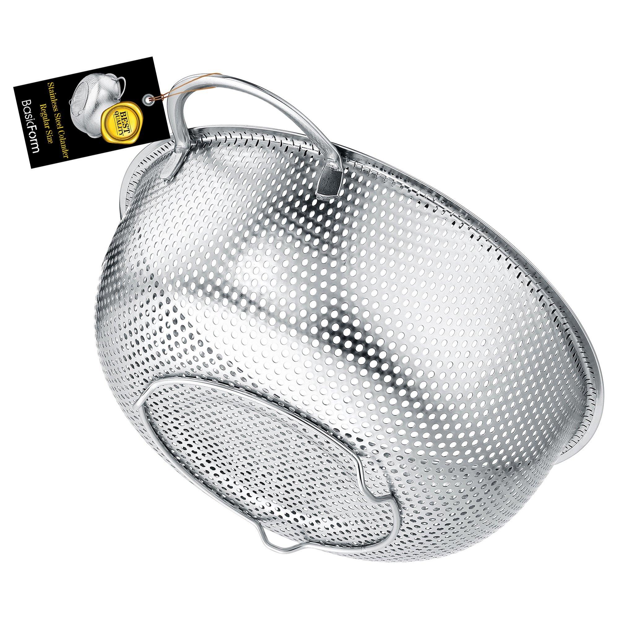 BasicForm Colador microperforado con mango y base de acero inoxidable 22.5cm product image