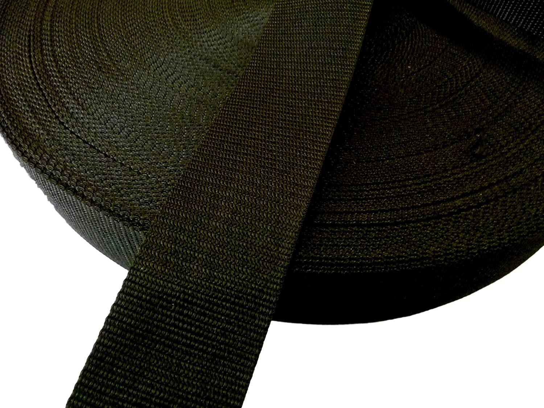 Polypropylene WEBBING STRAP 38 mm 1.5 inch wide JET BLACK Various Lengths