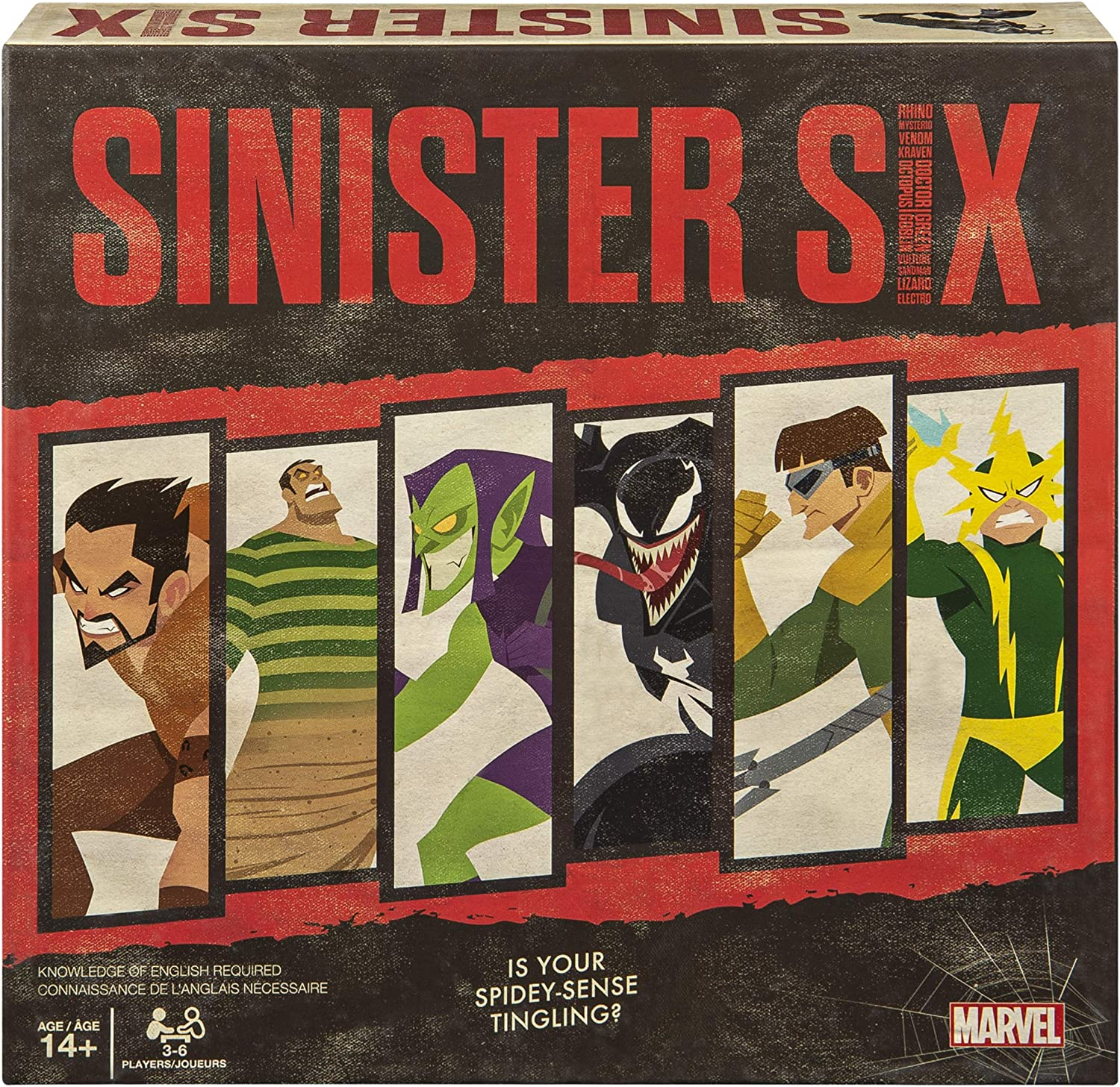Spin Master Games Marvel Sinister Six, Spider-Man Villains Heist Card Game for Teens and Adults