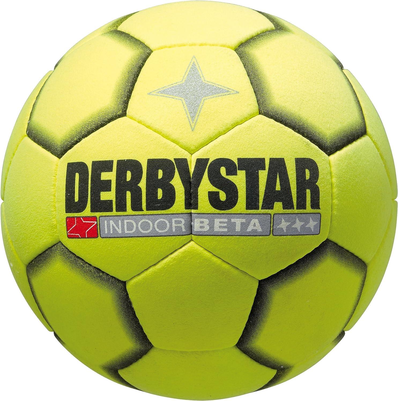 Color Amarillo y Negro Bal/ón de f/útbol Sala Derbystar Indoor Beta