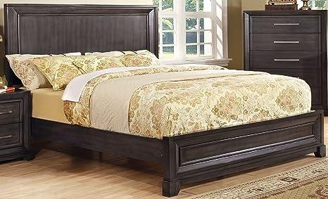 Amazon.com: Furniture of America Denver Platform Bed ...