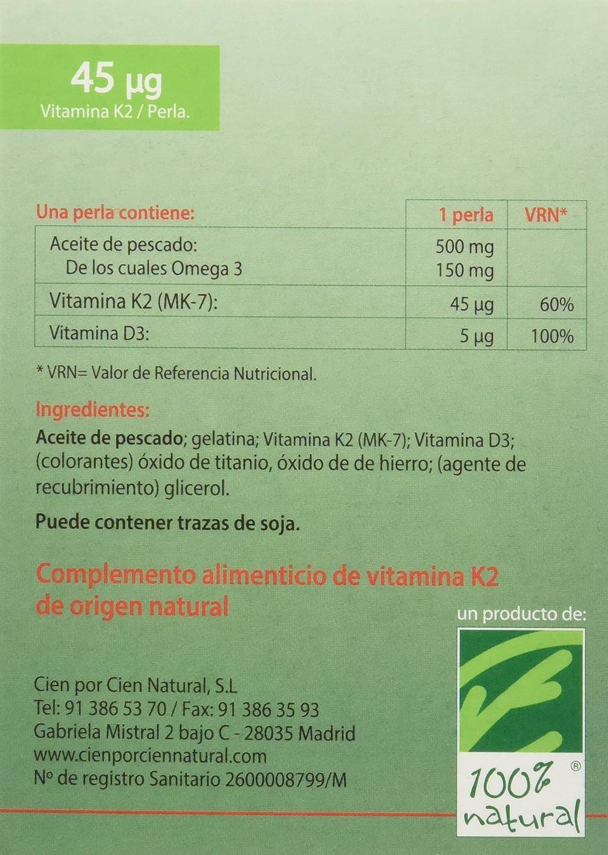 100% natural NutriMK7 Vitamina K - 60 Cápsulas: Amazon.es: Salud y cuidado personal