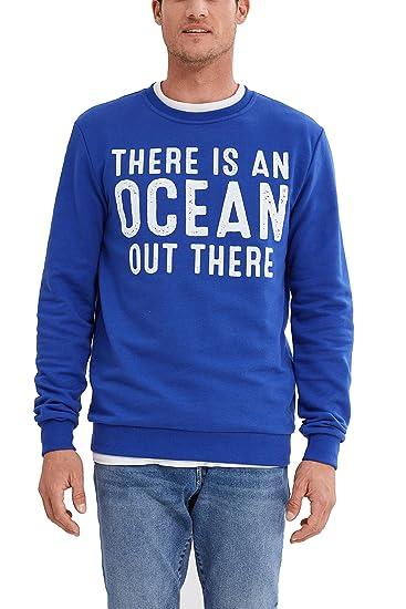 Blue shirt 047ee2j002 Small Bleu Homme bright Sweat Esprit vCv6wqXpnT