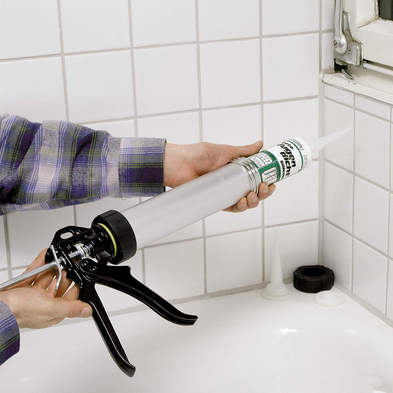 LUX-TOOLS Kartuschenpresse Alu Comfort 310 ml Zum F/üllen von Fugen und Spalten