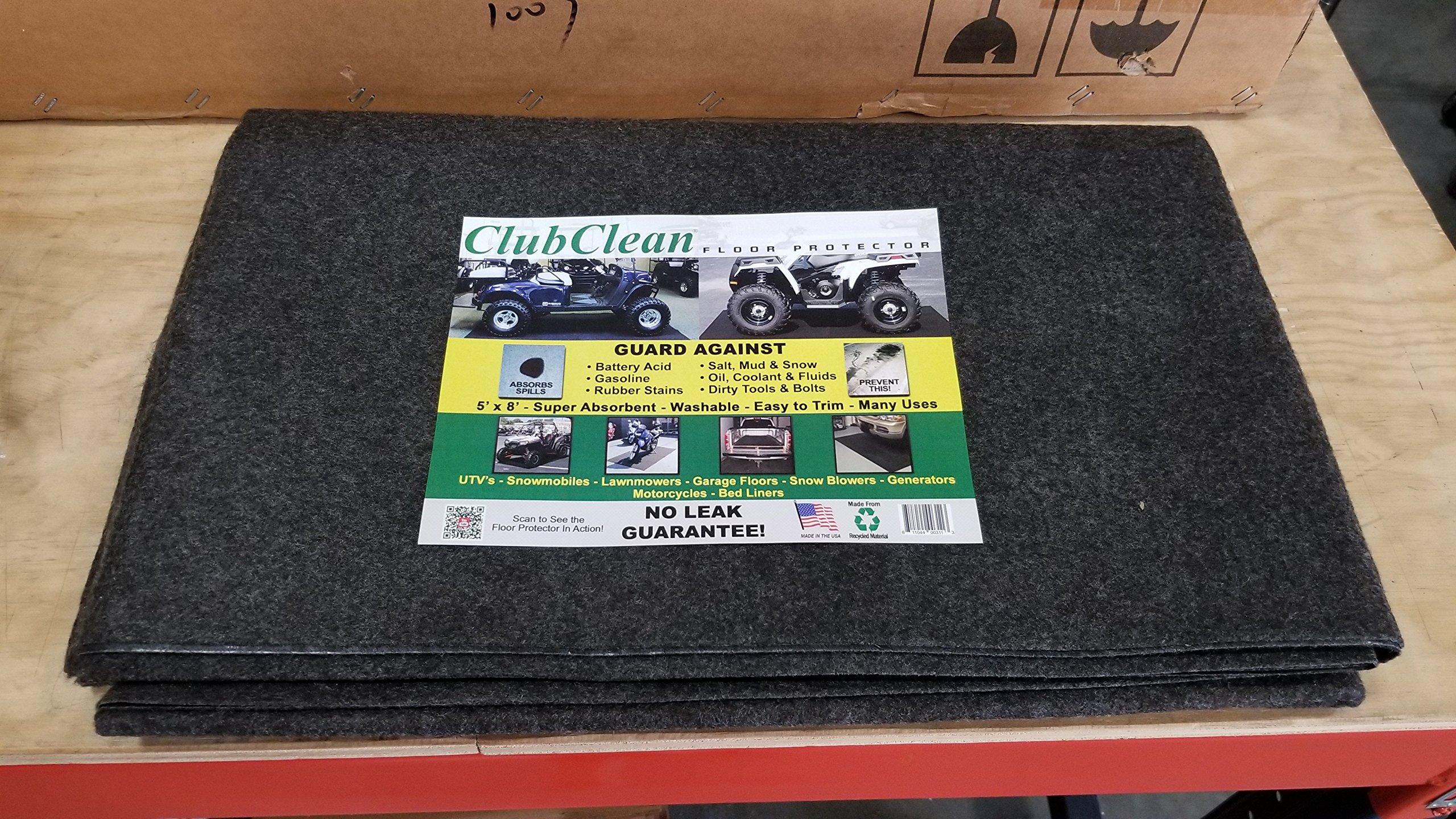 Club Clean Golf Cart Parking Mat