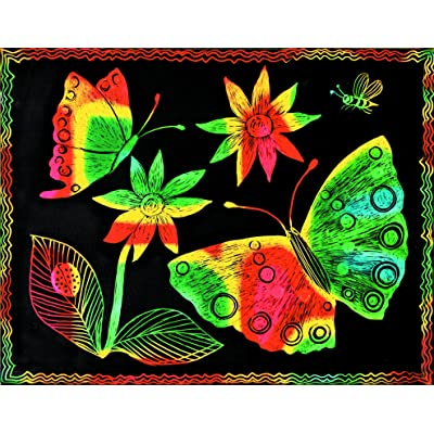 Melissa & Doug Scratch Art Paper - 12 Multicolor Sheets and Wooden Stylus: Melissa & Doug: Toys & Games