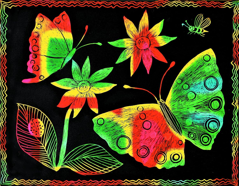 Amazon.com: Melissa & Doug Scratch Art Paper - 12 Multicolor Sheets ...