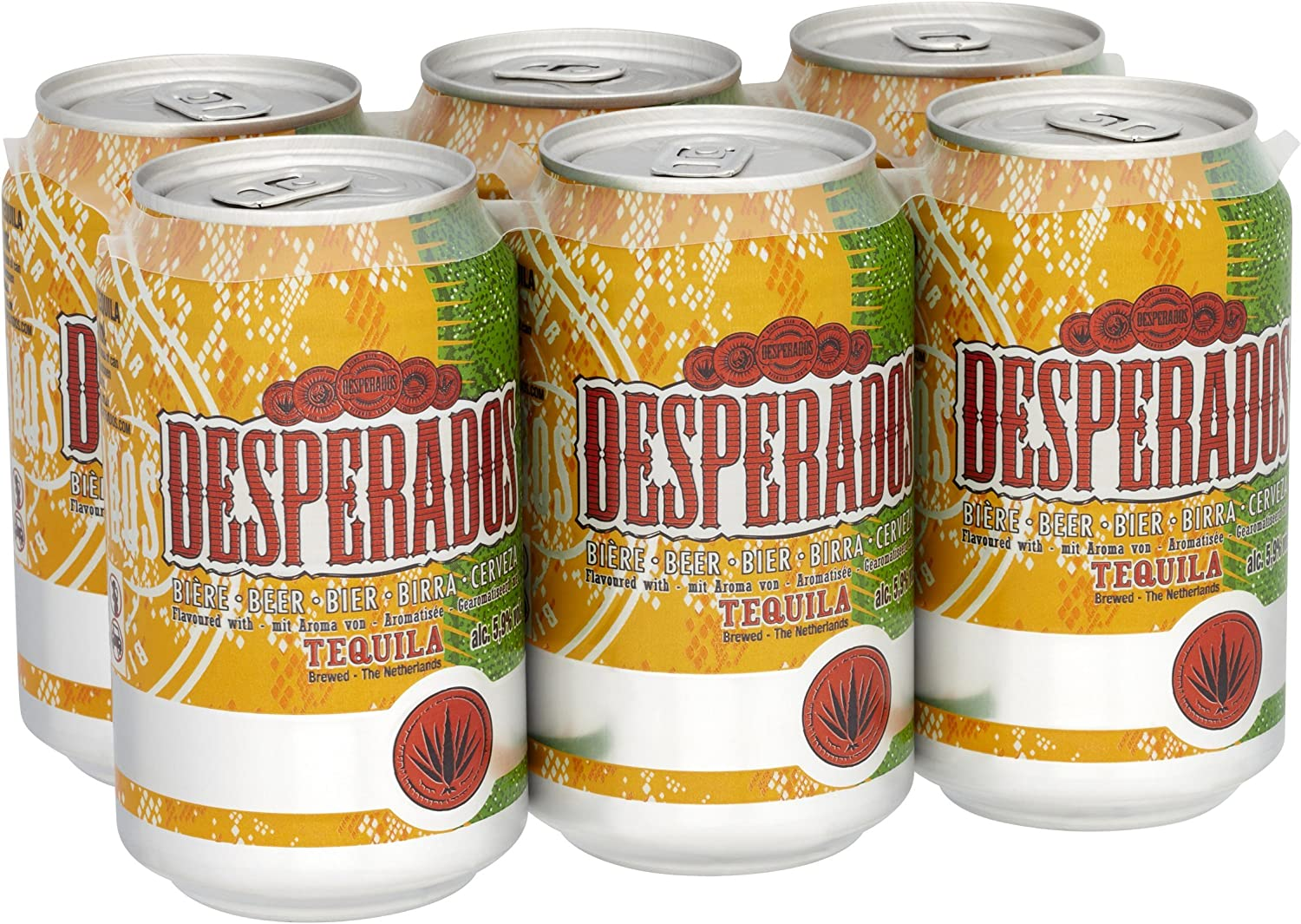 Desperados Tequila Beer Cans 6 X 330 Ml Amazon Co Uk Grocery