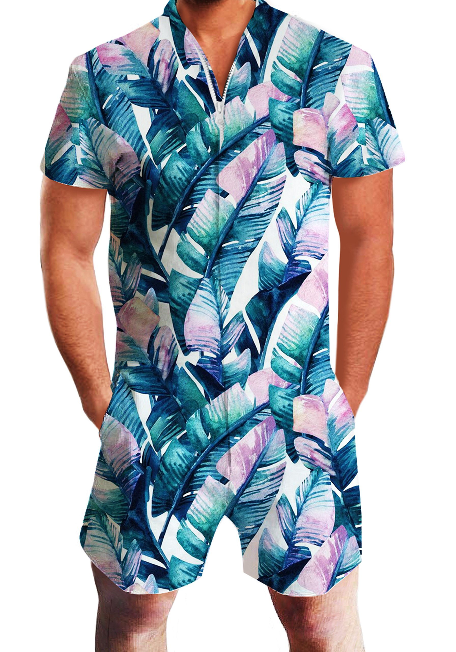 61cc6aa363f6 Galleon - Mens Male Galaxy Nebula Space Printed Hipster Novelty Shorts  Cargo Pants Tees Clothes Jumpsuits Rompers Overalls Leaves XL