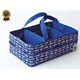 Diaper Caddy Organizer - Large Nursery Storage Tote for Baby Changing Table - Portable Craft Bag with Handles - Diapering Essentials Supply Station Bin - New Born Registry Gifts - Bedside Toy Baskets