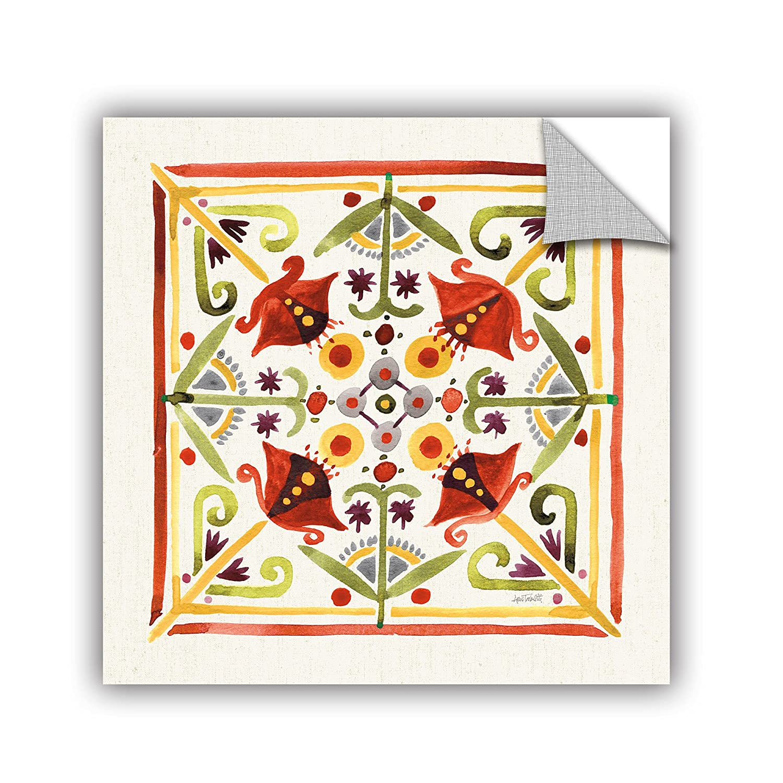 24X24 Anne Tavoletti Fall Blooms Tile III Removable Wall Art Mural