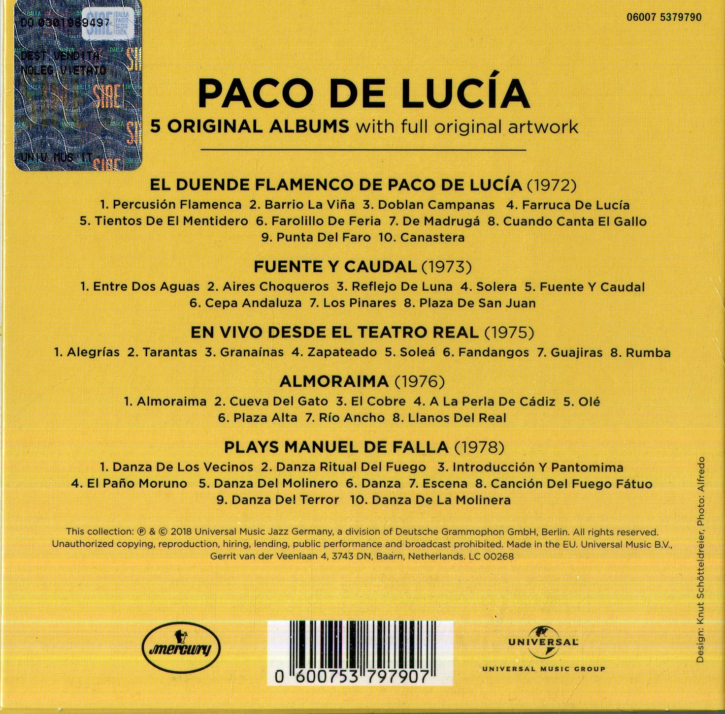 5 Original Albums: Paco De Lucía: Paco De Lucía, Paco De Lucía ...