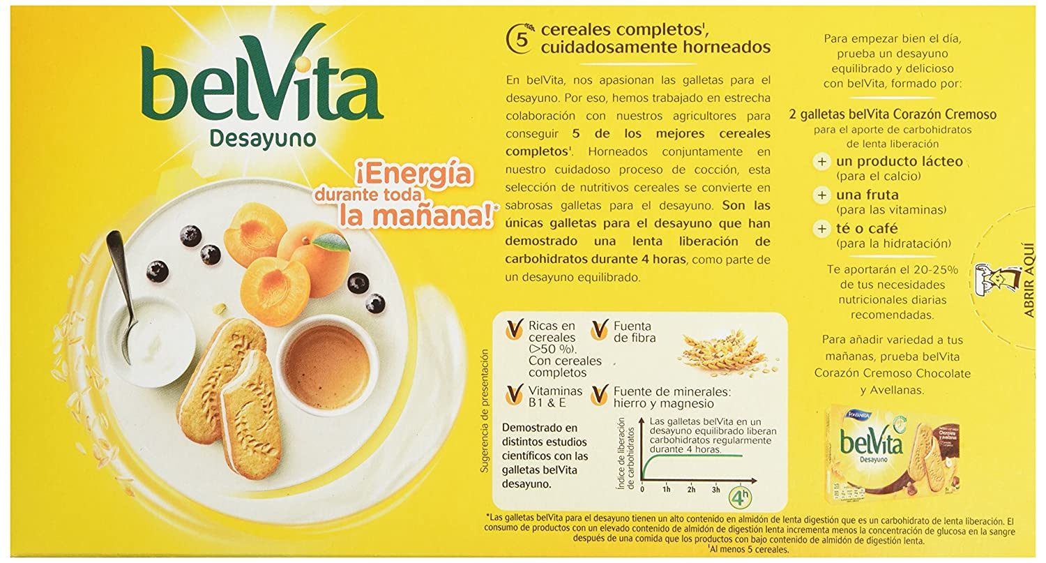 Fontaneda Belvita Galleta-Sandwich Yogur - 253 g: Amazon.es ...
