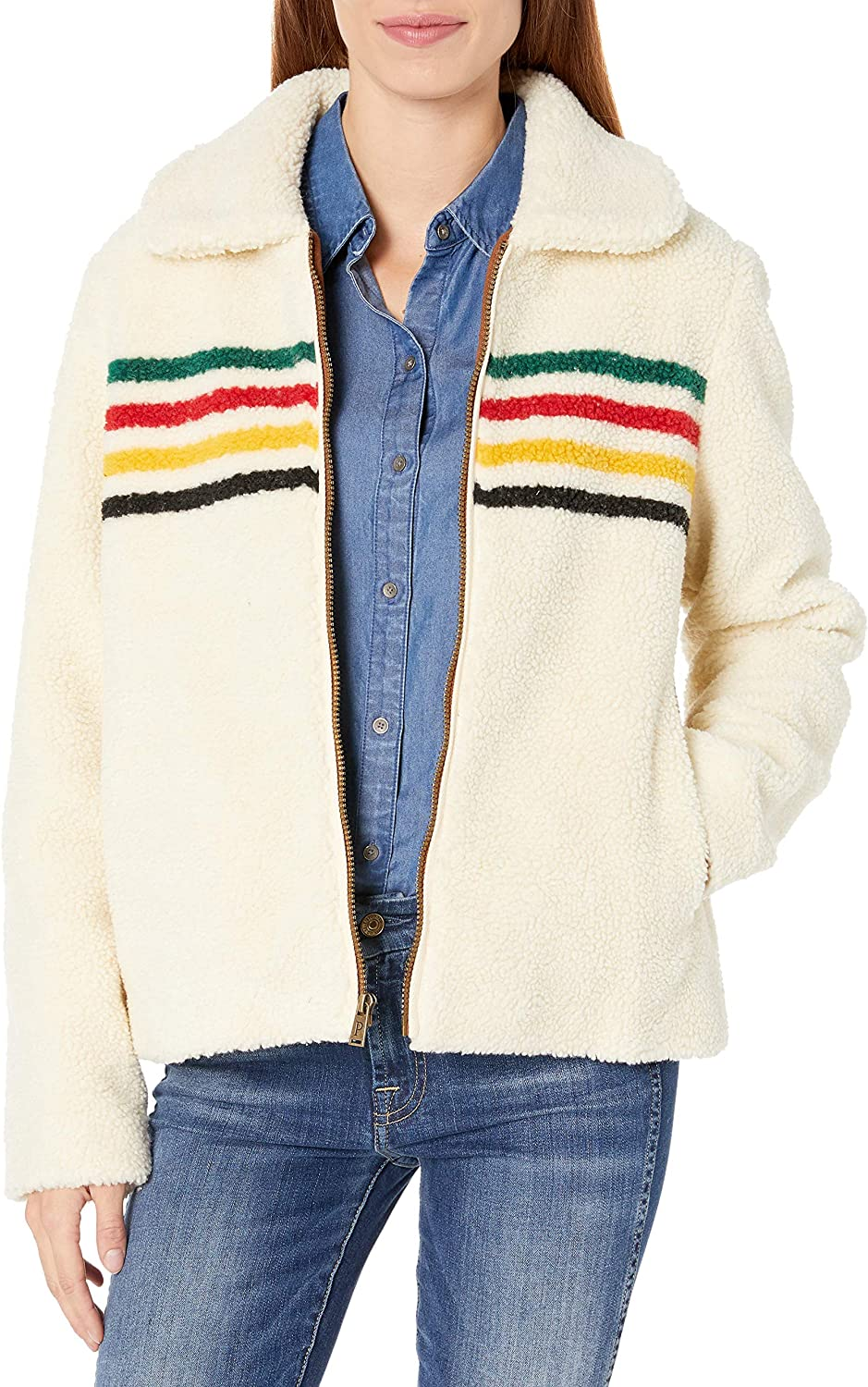 70s Outfits – 70s Style Ideas for Women Pendleton Outerwear womens Glacier Valley $155.00 AT vintagedancer.com